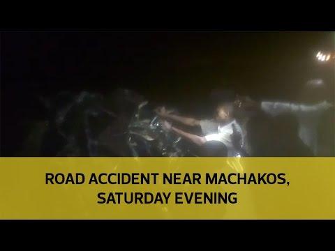 Road accident near Machakos, Saturday evening