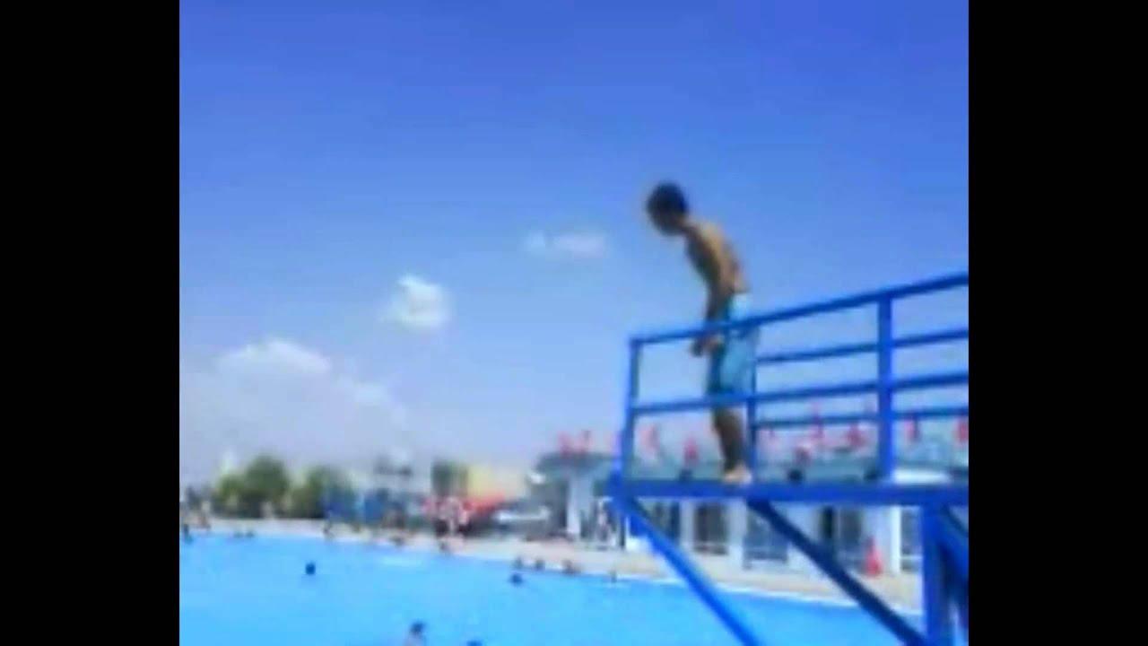 Swimming Pool Jump Tricks Flips Youtube