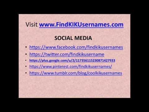 Kik contacts female
