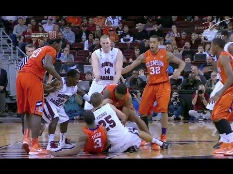 Highlights: Clemson vs South Carolina Basketball 2012