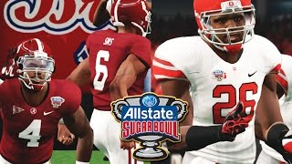 ncaa football 14 college playoffs sugar bowl 1 alabama vs 4 ohio st who leads team to victory