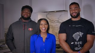 49ers Cook-off: Solomon Thomas and D.J. Jones Battle it Out on the BBQ Grill