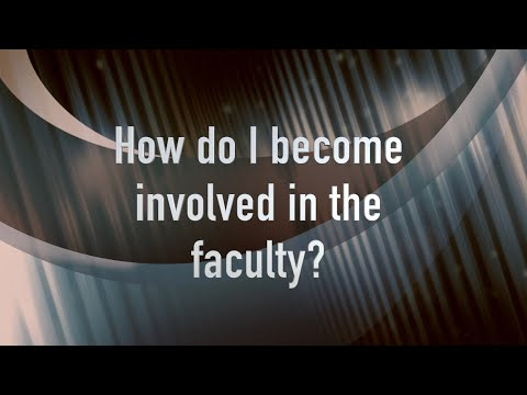 FAQ Training - How do I become involved in the faculty?