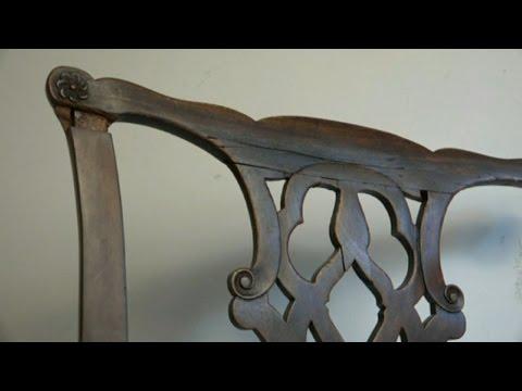 Valuable Antique Chippendale Chair Repair - Valuable Antique Chippendale Chair Repair - YouTube