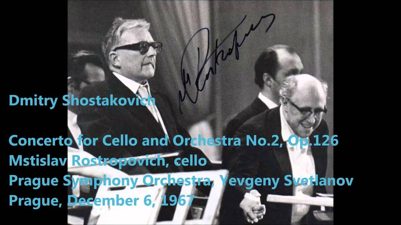 Dmitri Shostakovich: Cello Concerto No 2 - Mstislav Rostropovich, Yevgeny  Svetlanov (Audio video)