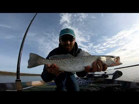 SPECKLED TROUT ON ARTIFICIAL! DOA & MirrOlure | Winter Fishing Wilmington NC