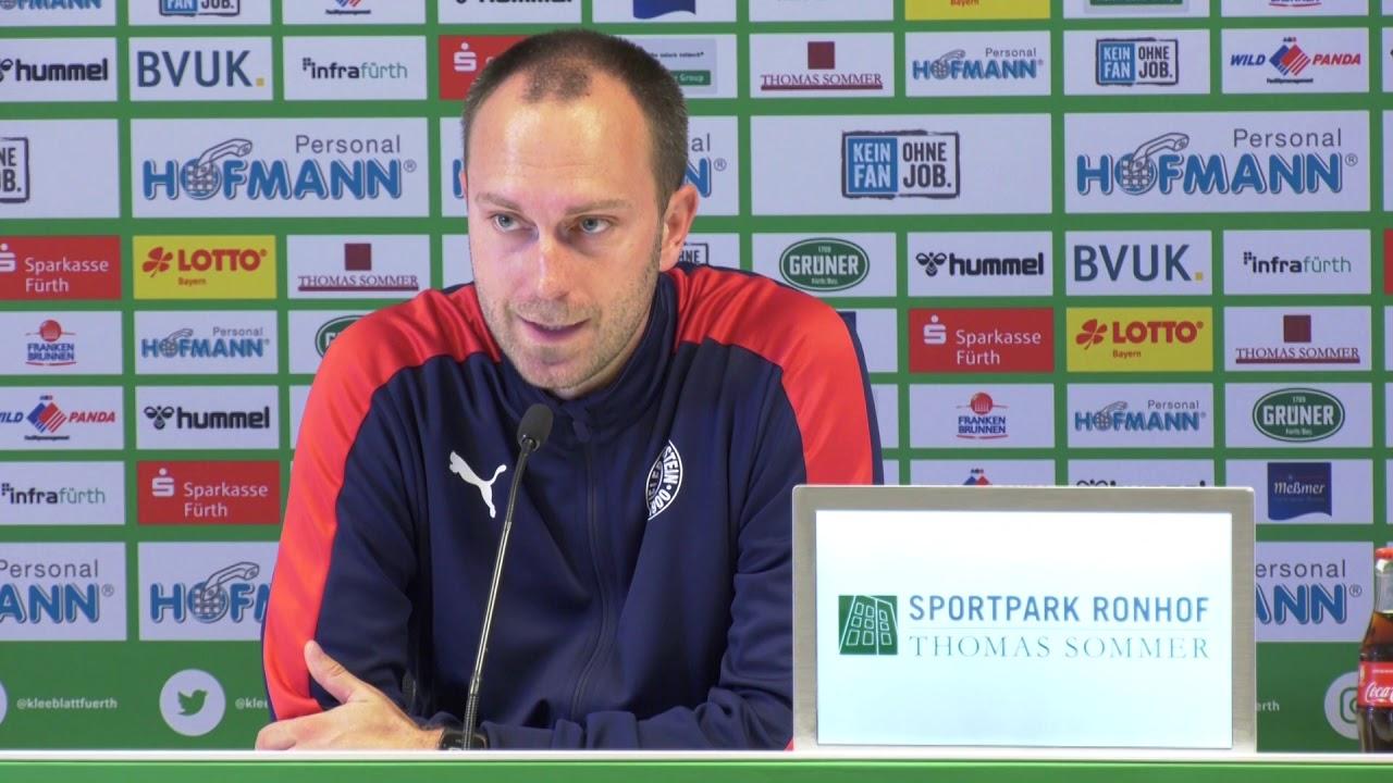 Pressekonferenz Greuther Furth Holstein Kiel 0 3 29 09 2019 Sgfksv Youtube