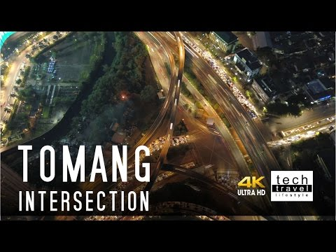 [4K] Tomang Intersection Sunset Drone View - West Jakarta