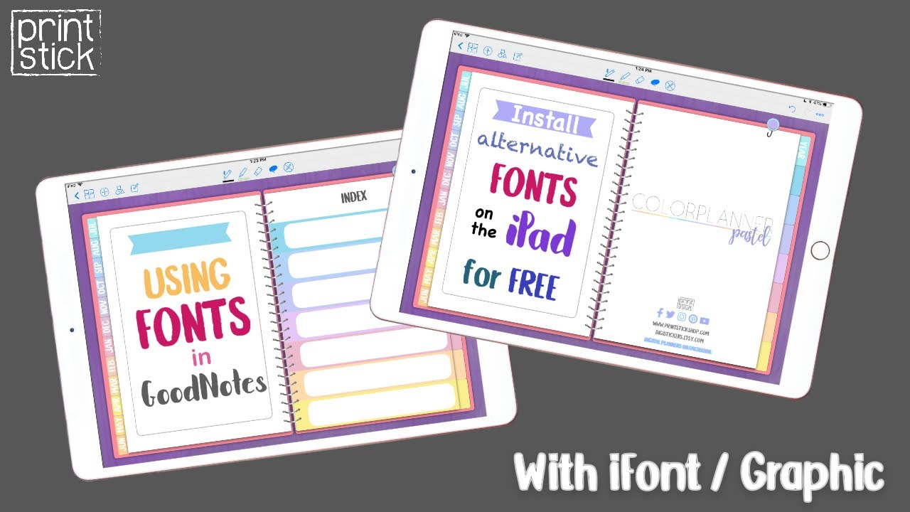 How to Install Fonts on the iPad + Using fonts in GoodNotes