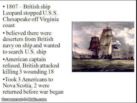 Impressment and the Chesapeake Affair