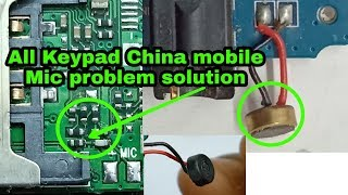 china mobile mic not working  solution | all china keypad mobile mic problem solution