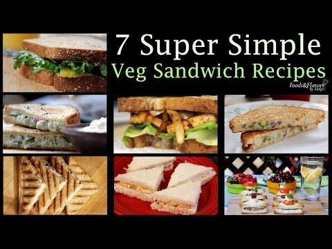 Veg Sandwich Recipes   Healthy Evening Snacks Easy Breakfast Recipes & Kids lunch Box snacks idea