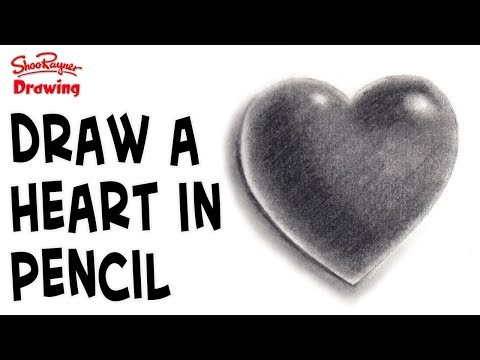 How to draw a heart in pencil - step by step instructions