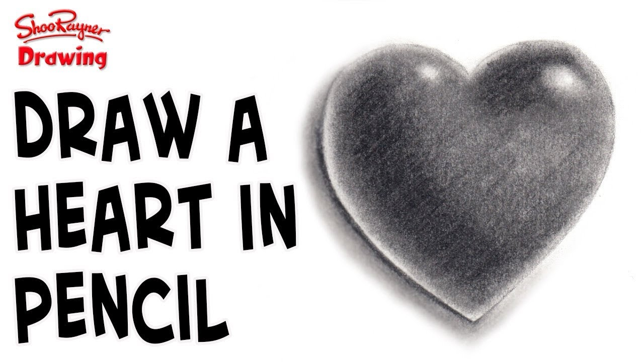 How to draw a heart in pencil step by step