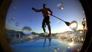 surfing the cmlb hobie sup in panama city beach