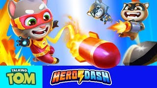 🚀⚡Supercharged Tips and Tricks ⚡🚀Talking Tom Hero Dash (NEW UPDATE Gameplay)