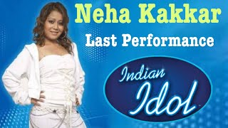 Neha Kakkar Last Performance indian Idol 2 Resimi