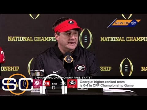 Kirby Smart gets emotional after Georgia's loss to Alabama in the national championship game | ESPN