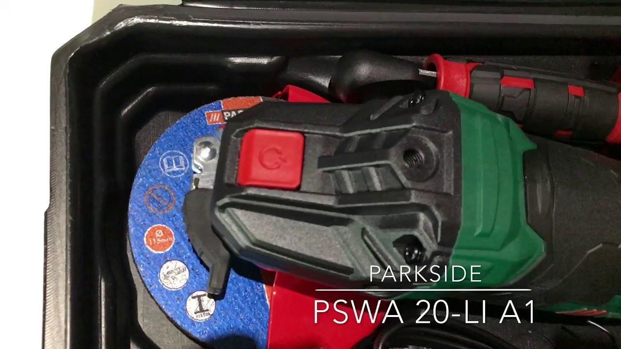 Parkside pwsa 20 li a1 youtube for Tassellatore parkside