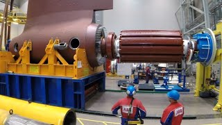 Amazing Propellers Manufacturing Process. The Azipod Propulsion Units Are Assembled