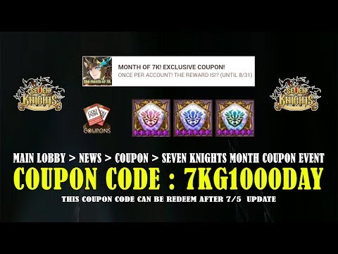 Seven Knights - Free Coupon Code (Special 1000 Days)
