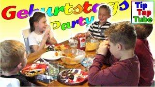 Geburtstags Party Spielzeug Geschenke Flaschendrehen Basteln Spielen Pommes Muffins Kinderkanal