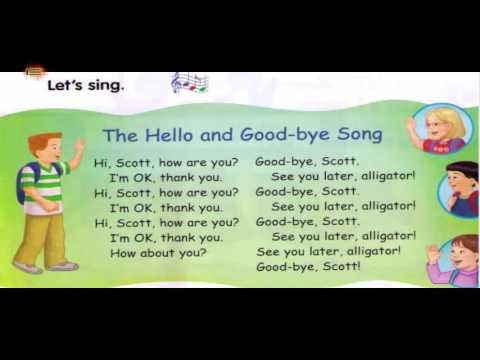 The Hello And Good Bye Song - IE English Kids