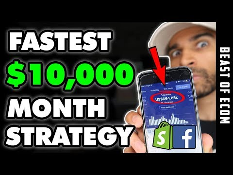 The FASTEST Way To Make $10,000 Shopify Dropshipping | [FREE COURSE] thumbnail