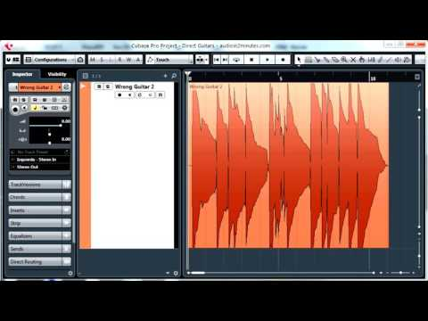 How To Professionally Record Direct Guitar with Cubase Pro - Recording Techniques
