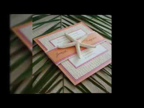 Handmade Beach Themed Wedding Invitations Ideas YouTube – Handmade Beach Wedding Invitations
