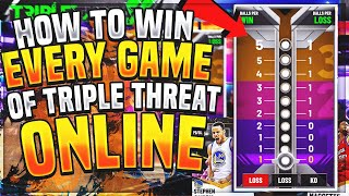 How To Win EVERY GAME Of Triple Threat Online Glitch!! Never Lose Again + EASY XP! NBA 2K21 MyTeam