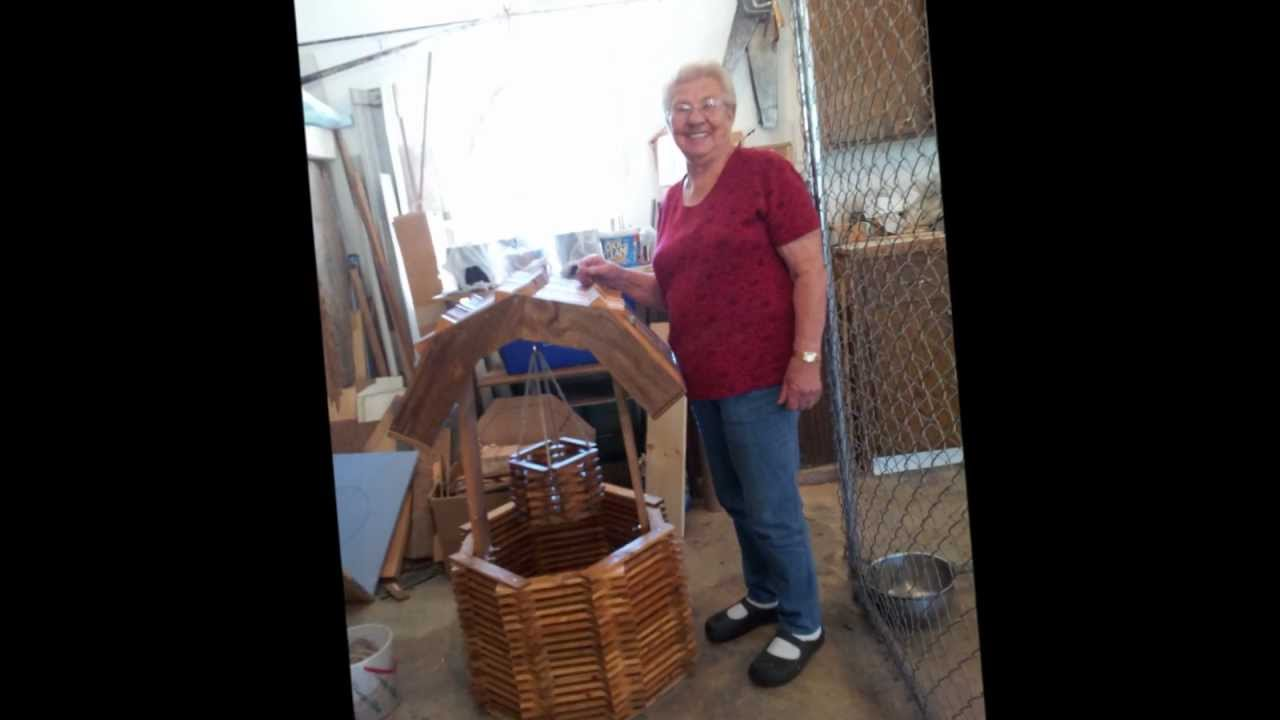 Wishing well lawn ornament - 85 Yr Old Makes Wooden Wishing Well For Her Garden