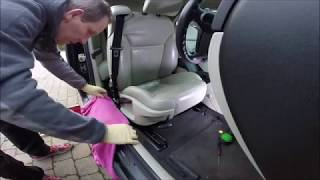 SAAB 9-3 ss Convertible-Drivers Seat Bottom Leather Replacement