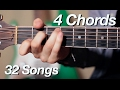 4 Chords, 32 Songs on Acoustic Guitar!