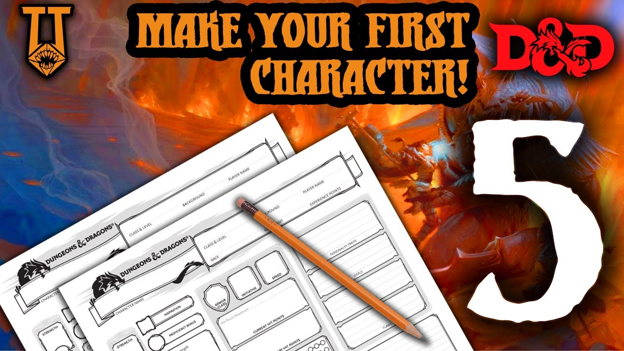 How to Make a D&D 5e Character for Absolute Beginners (Every Step in Detail) Learn to Play - Part 5
