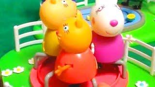 Мультфильм игрушками Свинка Пеппа Свинка Pig Домик на дереве Папа наездник Ночник