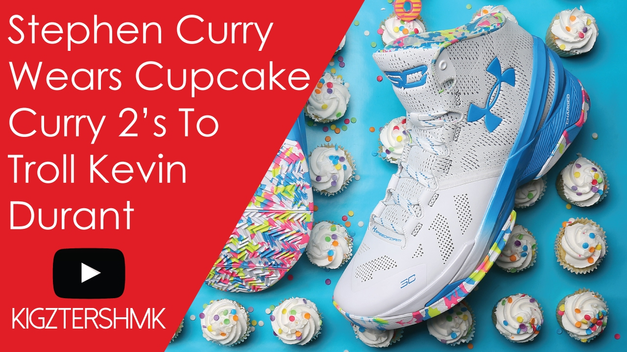 d3ad221a3900 Stephen Curry Wears Cupcake Shoes To Troll Kevin Durant Before All-Star Game
