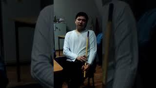 Игра на национальном инструменте курай. Исполнитель Загир Кунакасов. Оренбургская область