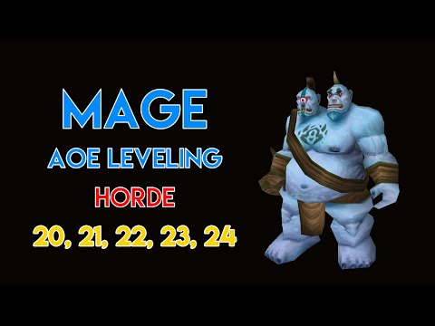 MAGE AOE LEVELING GUIDE 20, 21, 22, 23, 24 (HORDE) | CLASSIC WOW