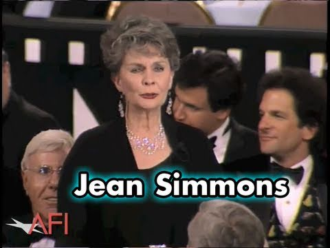 """Jean Simmons Toasts """"The One And Only Spartacus"""""""