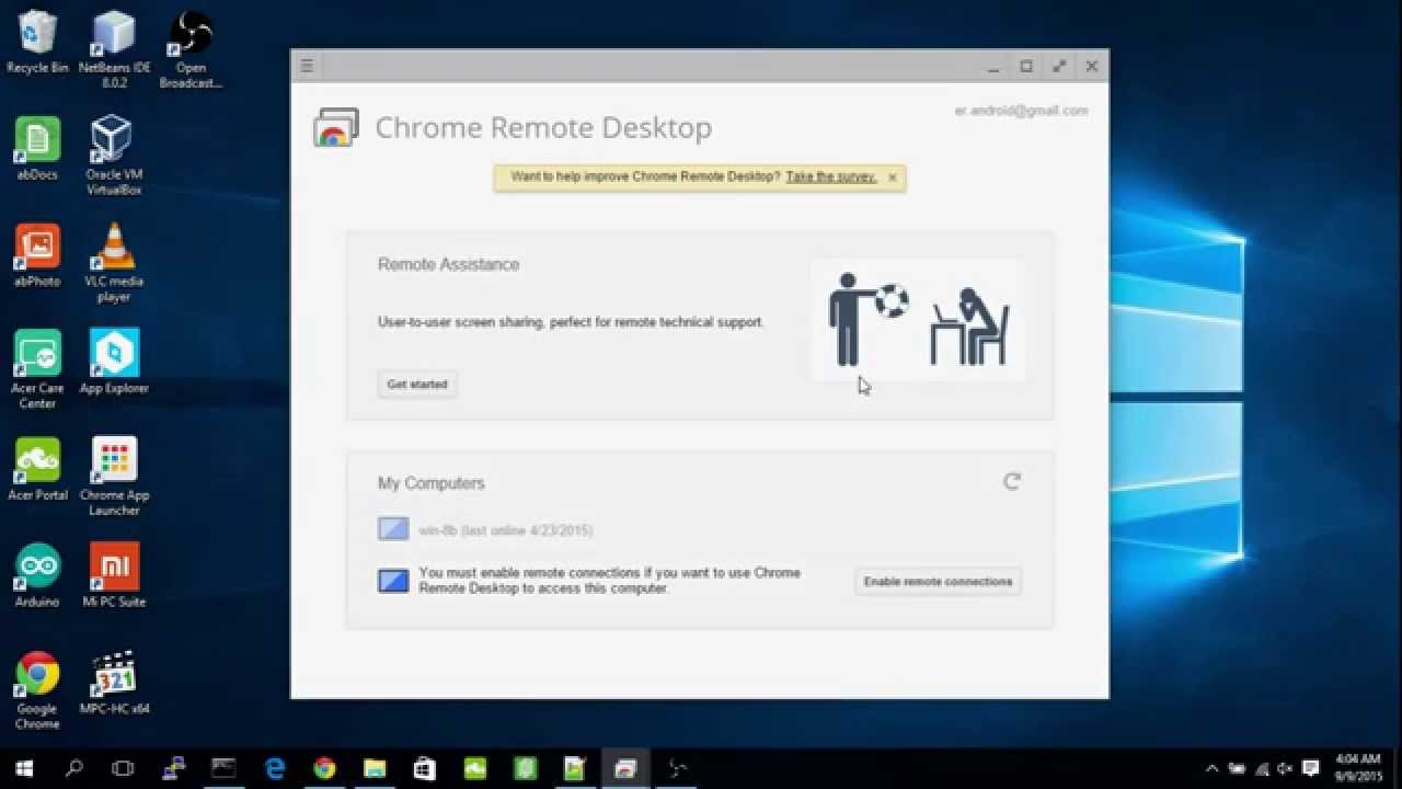 To disable remote connections of Chrome Remote Desktop