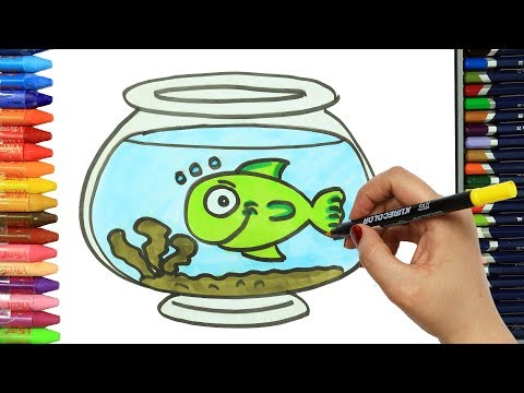 How To Draw Green Fish  Colors  Drawing And Painting