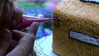 как сделать белковый крем цветным