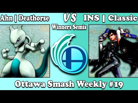 Ottawa Smash Weekly #19 Ahn | Deathorse (Mewtwo) vs INS | Classic (Bayonetta) Winners Semis