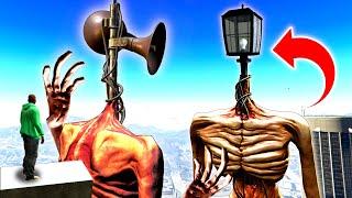 SIREN HEAD VS LIGHT HEAD In GTA 5! (Sirenhead's BROTHER!?) - GTA 5 Mods Funny Gameplay