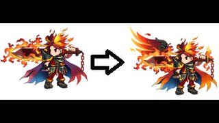 Brave Frontier - Evolving Fire King Vargas ★★★★ to Fire God Vargas ★★★★★