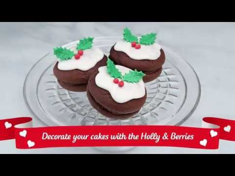 How to make EDIBLE HOLLY LEAVES AND BERRIES decoration | Christmas Recipe