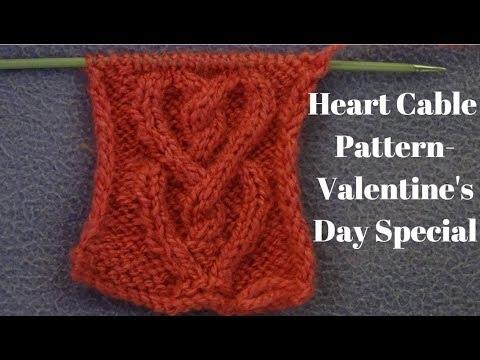 Heart Cable Knitting Pattern Heart Sweater Knitting Pattern