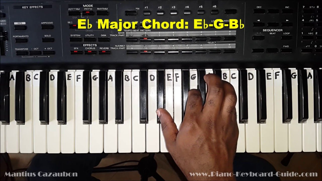 How to play the e flat major chord eb on piano and keyboard how to play the e flat major chord eb on piano and keyboard youtube hexwebz Choice Image