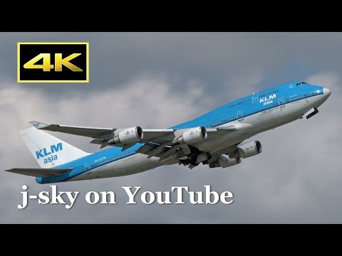 [4K] 1 Hour Plane Spotting at Narita Airport - fine day in summer,  jetliner and blue sky